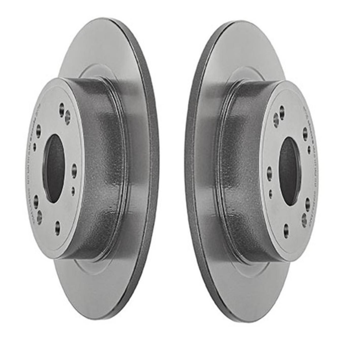 Brembo Rear Brake Kit Ceramic Pads Coated Disc Rotors For