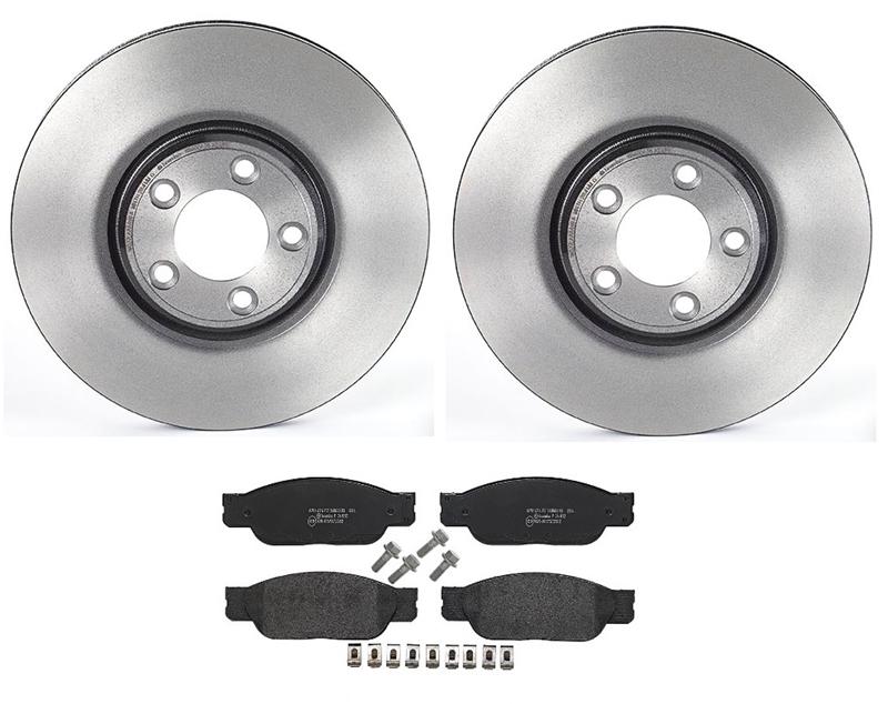 For Jaguar Vanden Plas XJ8 Brembo Front Brake Kit Ceramic Pads Vent Disc Rotors