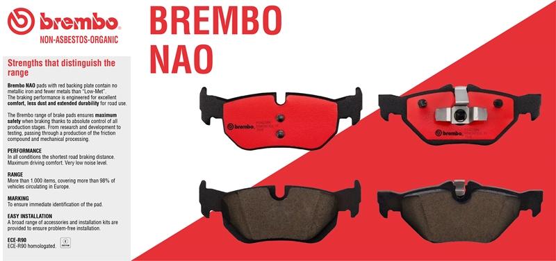 BREMBO Premium Ceramic Disc Brake Pads Set REAR P54012N