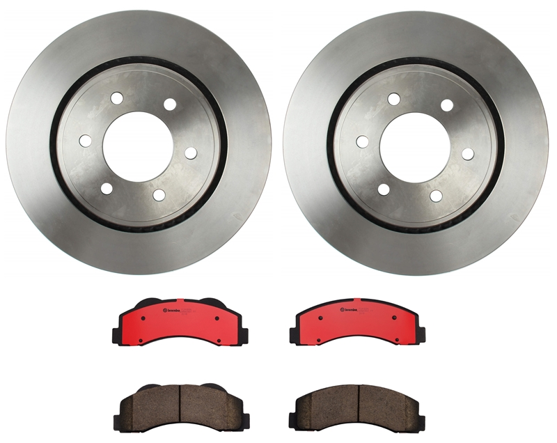 Brembo Front Brake Kit Ceramic Pads Disc Vented Rotors for Ford Expedition F-150