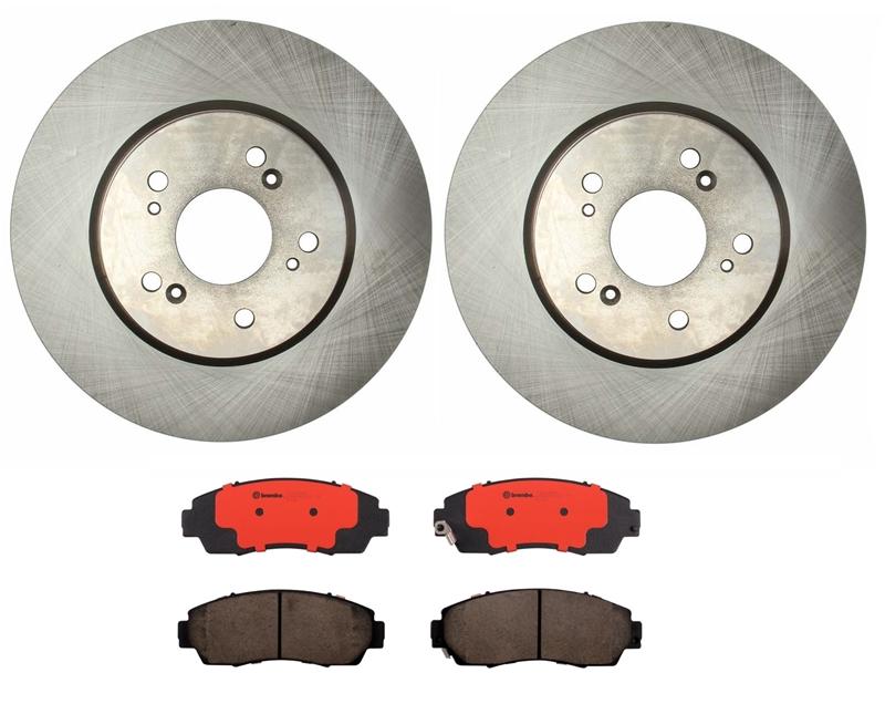 Front and Rear Brembo Brake Pads Sets Kit for Acura RDX Honda CR-V Crosstour